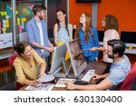 smiling graphic designers... | Shutterstock . vector #630130400
