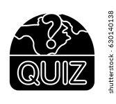 quiz map icon | Shutterstock .eps vector #630140138