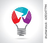 creative vector of teamwork... | Shutterstock .eps vector #630147794