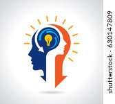 idea solution bulb human man... | Shutterstock .eps vector #630147809