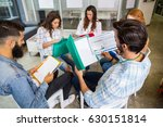 attentive executives working in ...   Shutterstock . vector #630151814