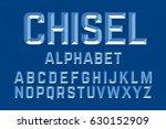 Chiseled Alphabet Letters Set...