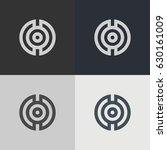 abstract circle logo. logo... | Shutterstock .eps vector #630161009