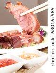 roasted pork | Shutterstock . vector #630165989