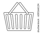 shopping basket icon | Shutterstock .eps vector #630166124