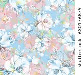 seamless pattern of graceful... | Shutterstock . vector #630176879