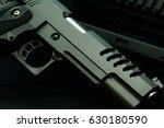 hand gun  bullet on assault... | Shutterstock . vector #630180590