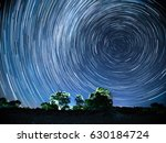 South Polar Star Trails over the Trees