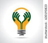 reach idea with human hands | Shutterstock .eps vector #630193823