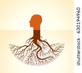 human head  green thoughts | Shutterstock .eps vector #630194960