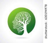 human head growing in the shape ... | Shutterstock .eps vector #630194978