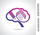 thinking brain a creative idea... | Shutterstock .eps vector #630194990