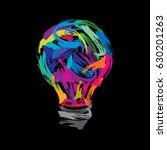 creative painting idea | Shutterstock .eps vector #630201263