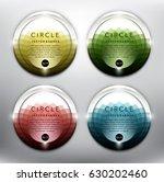 abstract vector banner set of 4....   Shutterstock .eps vector #630202460