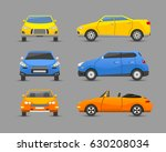 flat car vehicle type design... | Shutterstock .eps vector #630208034