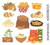 vector illustration vegetable... | Shutterstock .eps vector #630208214