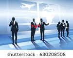 business team silhouette in... | Shutterstock .eps vector #630208508