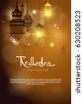 ramadan kareem muslim religion... | Shutterstock .eps vector #630208523