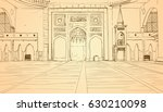 nabawi mosque building interior ...   Shutterstock .eps vector #630210098