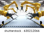 industrial robotic arms with... | Shutterstock . vector #630212066