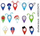 icons and pointers for maps. | Shutterstock .eps vector #630215474