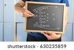 hand of a american football... | Shutterstock . vector #630235859