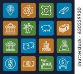 bank icons set. set of 16 bank... | Shutterstock .eps vector #630239930