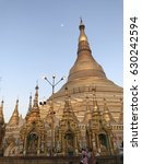 great golden pagoda in yangon... | Shutterstock . vector #630242594