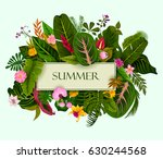 abstract exotic tropical leaf...   Shutterstock .eps vector #630244568