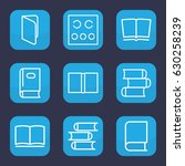 read icon. set of 9 outline... | Shutterstock .eps vector #630258239