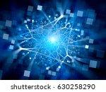 blue glowing network... | Shutterstock . vector #630258290