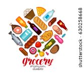 grocery store  banner. food and ... | Shutterstock .eps vector #630258668