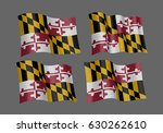usa maryland vector flags. a... | Shutterstock .eps vector #630262610