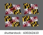 usa maryland vector flags. a... | Shutterstock .eps vector #630262610