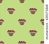 cupcakes  pattern  food  desert ...   Shutterstock .eps vector #630271868