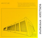 architecture grid blueprint... | Shutterstock .eps vector #630273656