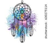 dreamcatcher against a... | Shutterstock .eps vector #630275114