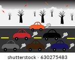 polluting car | Shutterstock .eps vector #630275483