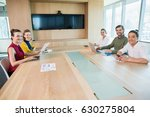 portrait of smiling business... | Shutterstock . vector #630275804