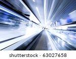 high speed moving escalator | Shutterstock . vector #63027658
