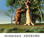 3d illustration of a giant sloth | Shutterstock . vector #630281483