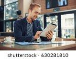 young businessman using a... | Shutterstock . vector #630281810