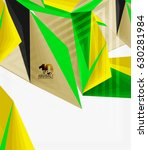 3d modern triangle low poly... | Shutterstock .eps vector #630281984