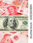 chinese yuan note and u.s.... | Shutterstock . vector #630282884