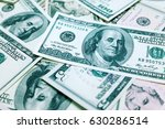 one hundred dollars bills... | Shutterstock . vector #630286514