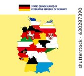 states of germany. | Shutterstock .eps vector #630287390