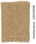 old handmade rough sackcloth. | Shutterstock . vector #63029098