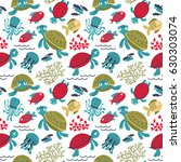 Vector Colorful Turtles...
