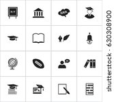 set of 16 editable education...