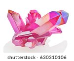 amazing colorful quartz pink... | Shutterstock . vector #630310106